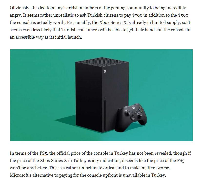 Xbox Series X Türkiye fiyatı dünya basınında konuşuluyor