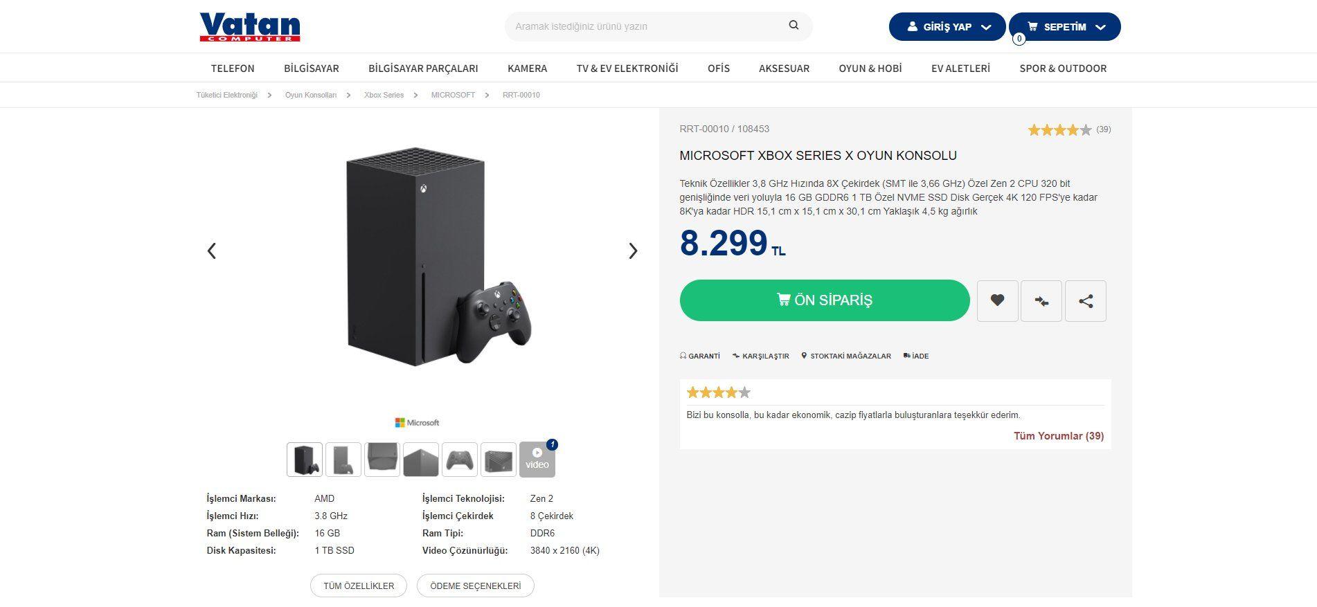 Xbox Series X Türkiye fiyatı düştü