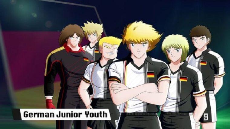 Captain Tsubasa videosunda sahne sırası 'German Junior Youth' takımında