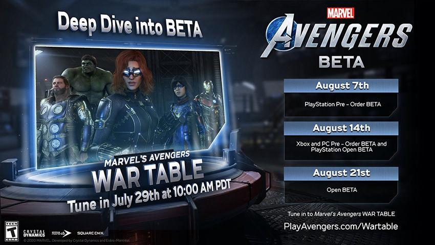 Marvel's Avengers beta tarihleri açıklandı