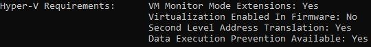 Windows 10X emülatörü sistem gereksinimleri