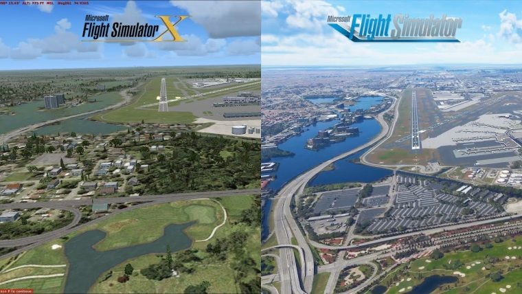 Microsoft Flight Simulator grafik karşılaştırma videosu