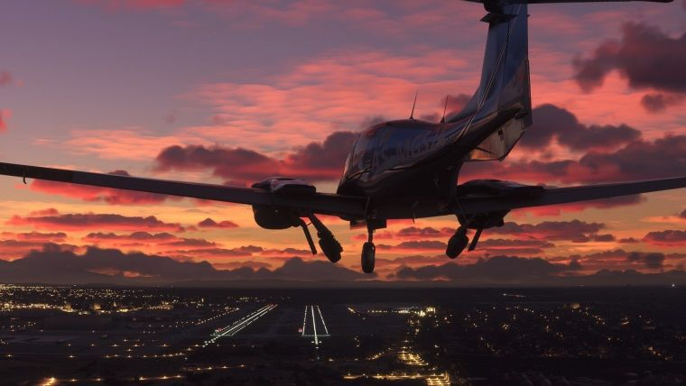 Microsoft Flight Simulator 10 DVD ile geliyor