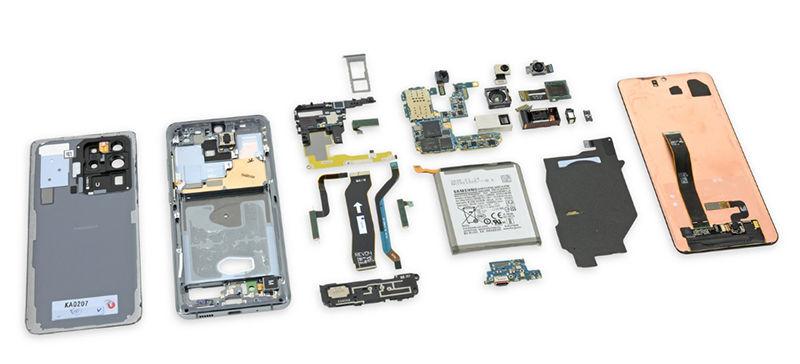 Samsung Galaxy S20 Ultra parça parça
