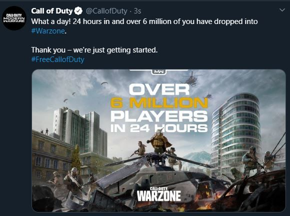 Call of Duty: Warzone ilk 24 saatte kaç kişi oynadı?