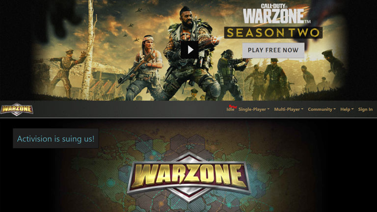Activision allegedly sued an independent developer