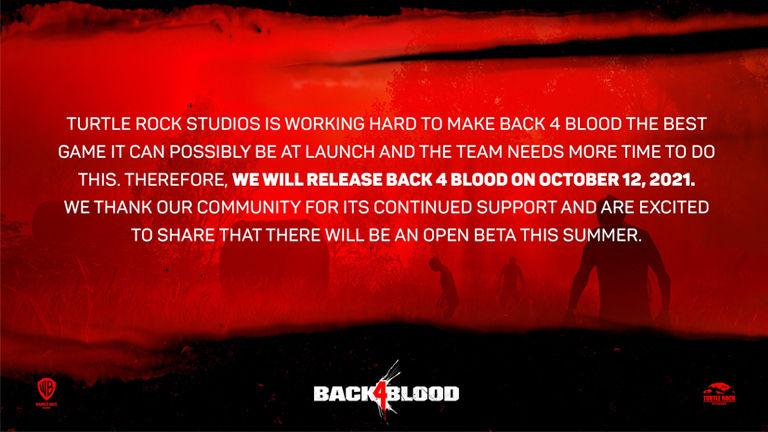 Back 4 Blood çıkış tarihi ertelendi