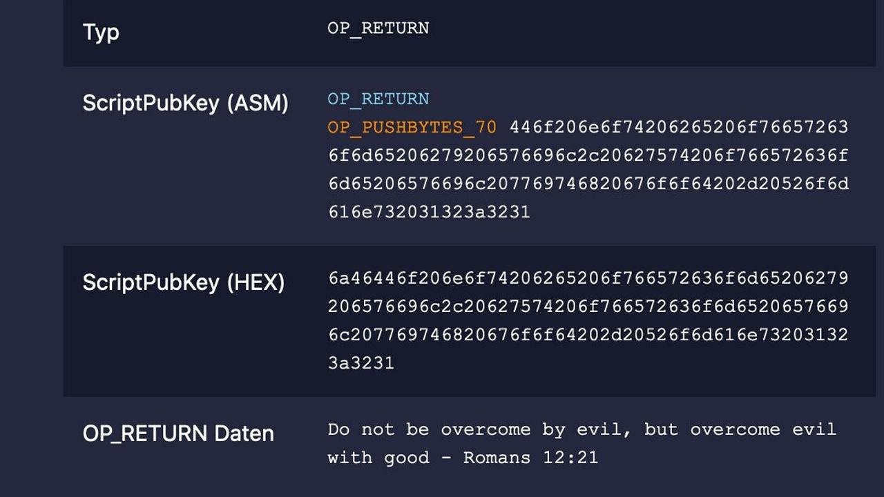 Bitcoin blok zincirinde İncil'e atıfta bulunan gizli mesaj!