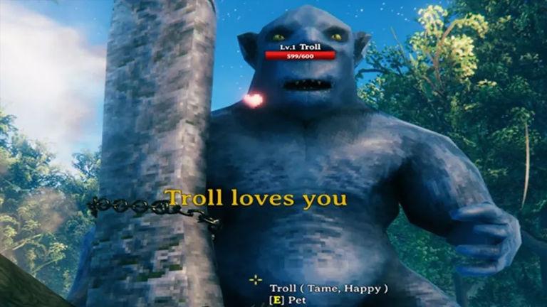 Make 'baby trolls' with Valheim troll taming mode