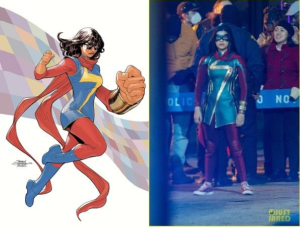 Ms.  The first photos from the Marvel series have begun to arrive