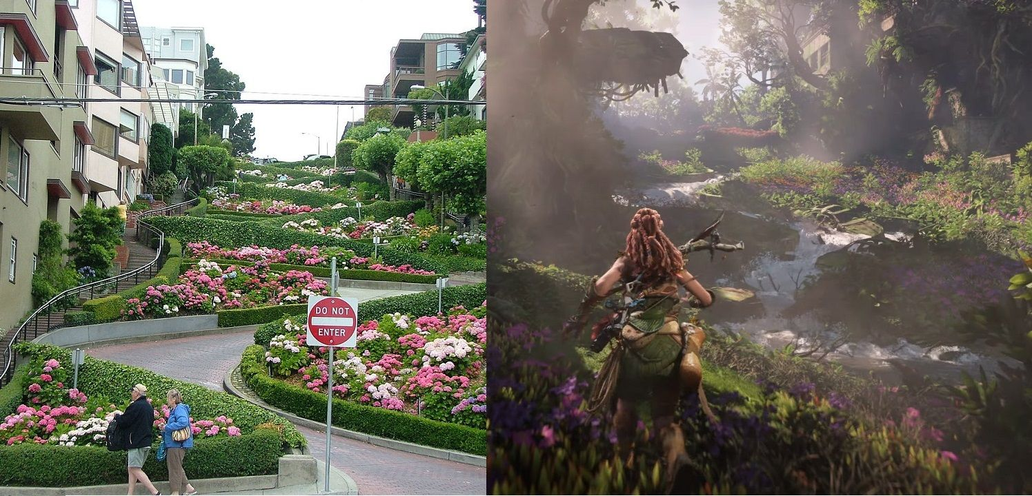 Horizon: Forbidden West compared real venues