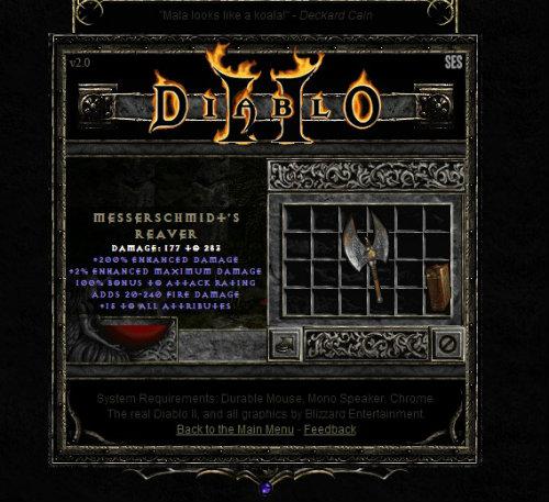 İnternet tarayıcısında Diablo II keyfi!