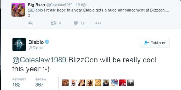 BlizzCon 2016'da, Diablo fırtınası esebilir