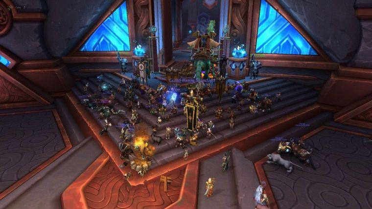 World Of Warcraft oyuncularından oturma eylemi