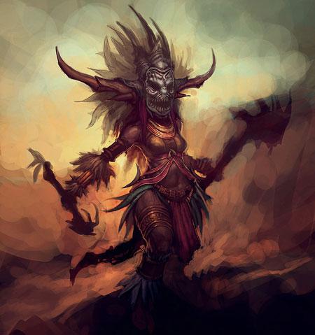 Diablo III'ün dişi Witch Doctor'u karşınızda