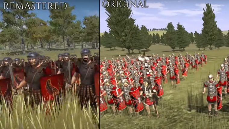 Total War: ROME REMASTERED karşılaştırma videosu