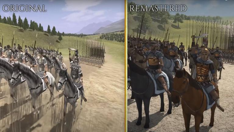 Total War: ROME REMASTERED comparison video