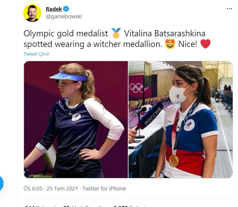 Witcher hayranı olimpiyatlarda altın madalya kazandı