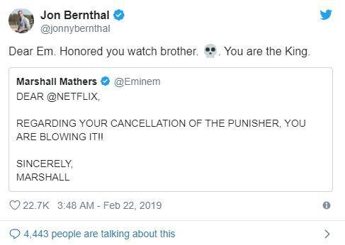 Marvel hayranı Eminem ve Punisher'ın Twitter dayanışması