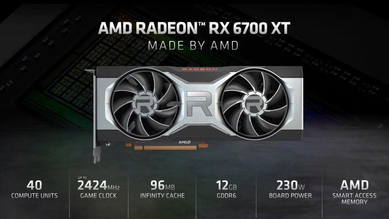AMD RX 6700 XT ekran kartı resmi olarak tanıtıldı