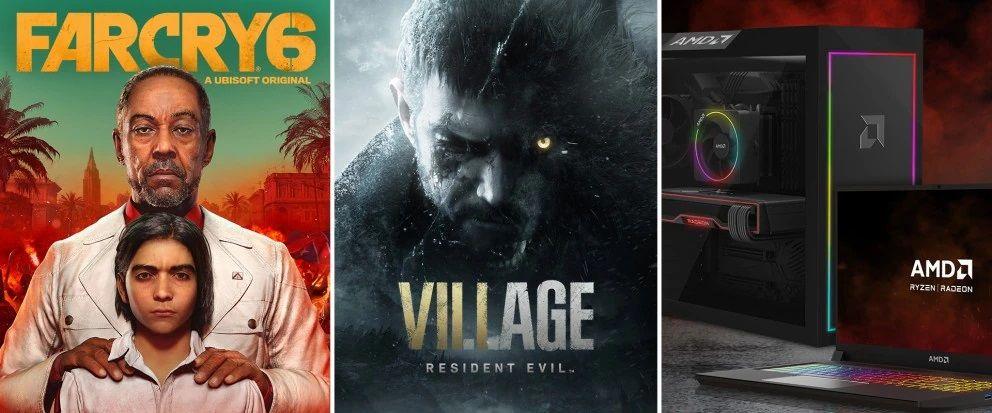 AMD yeni bundle paketinde Far Cry 6 ve RE Village'ı ücretsiz veriyor