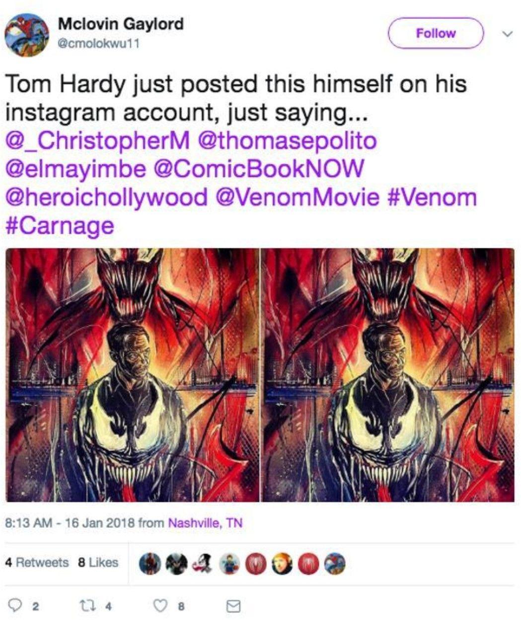 Venom filminde Carnage ve Spider-Man yer alacak!