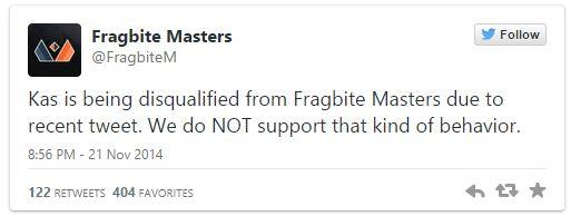 """StarCraft II oyuncusu, """"tecavüz"""" içerikli tweet'i nedeniyle diskalifiye oldu!"""