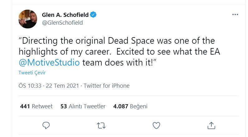 Dead Space'in yapımcısı remake