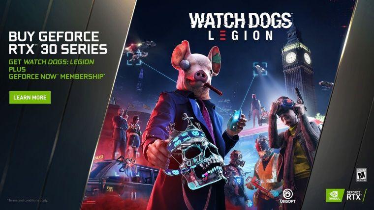 RTX 3000 kart alana Watch Dogs: Legion ve 1 yıllık GeForce Now üyeliği bedava