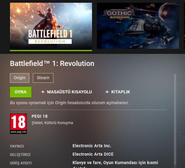 Electronic Arts GeForce Now