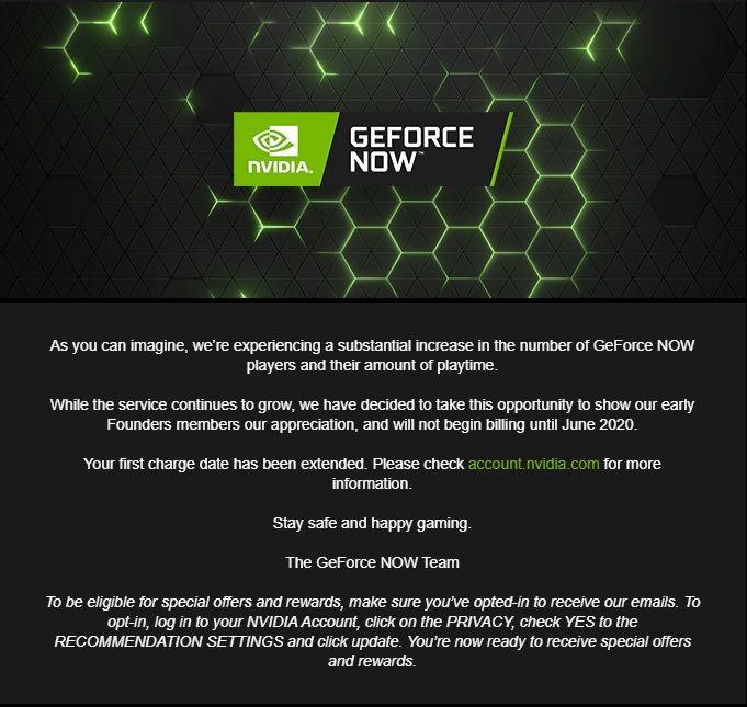 GeForce Now deneme süresi Haziran ayına uzatıldı