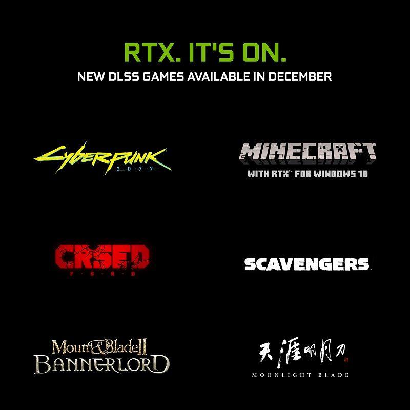 DLSS listesine 4 yeni oyun eklendi, Minecraft'a RTX desteği geldi