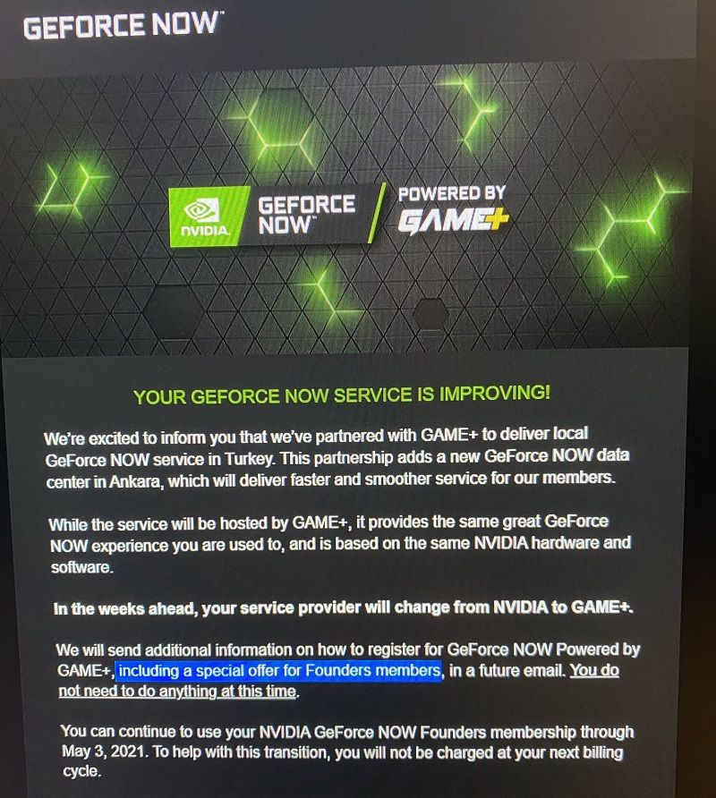 Mandatory transition decision for GeForce Now global accounts announced
