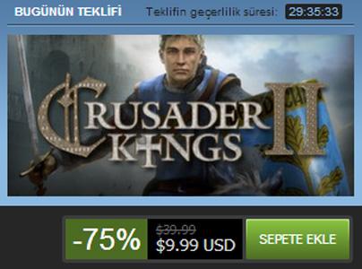 Steam'de Haçlı Krallar'ın devri başladı