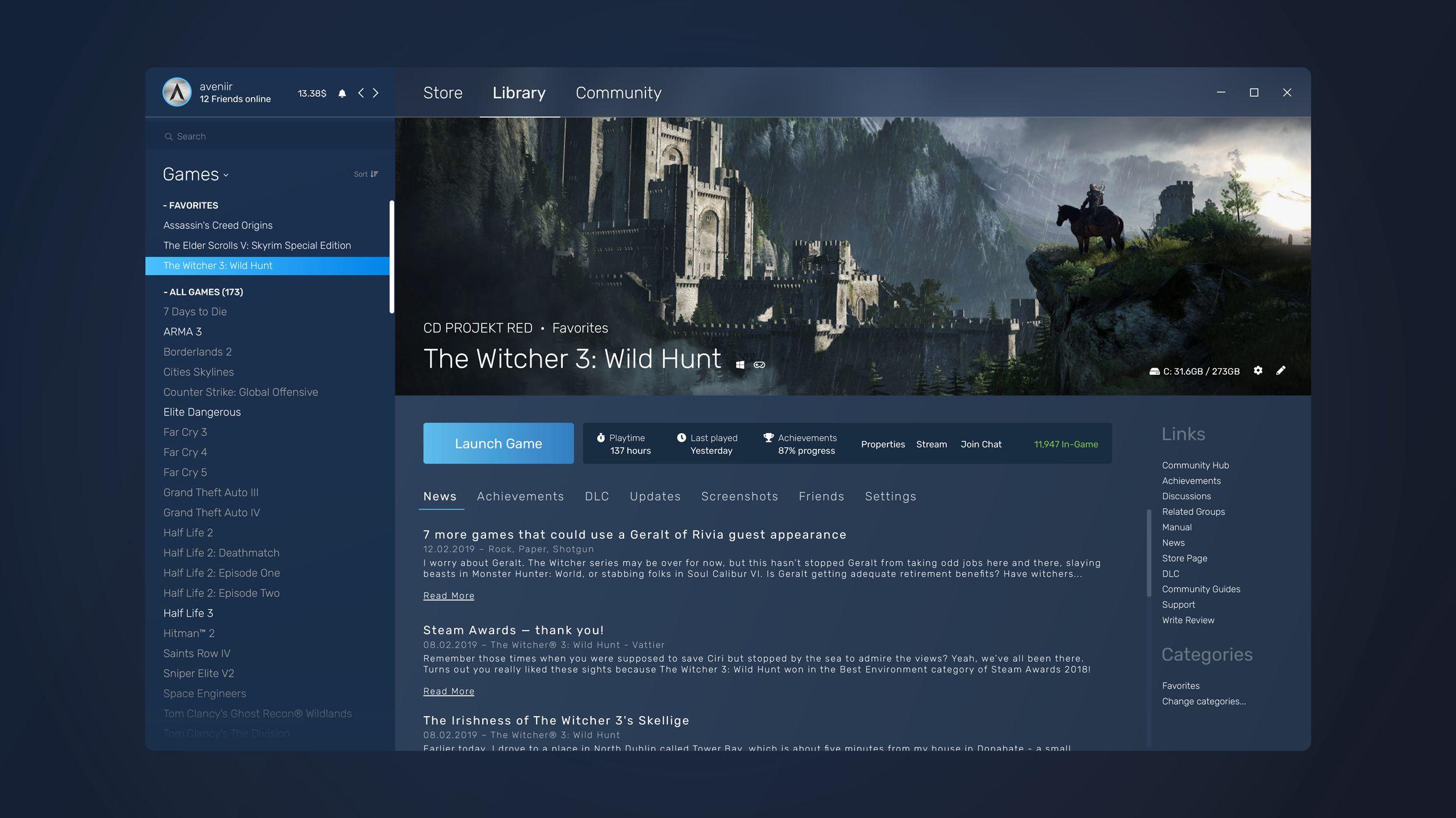 Söylentiye göre, Steam'in yeni arayüz tasarımı sızdırıldı