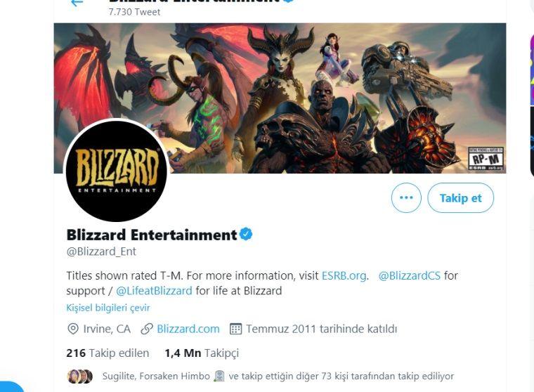 Blizzard'ın sosyal medya hesapları 2 gündür sessiz