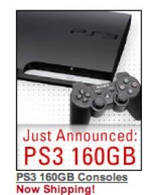 Sony'den 160 GB'lık PS3 paketi