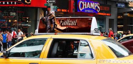 New Vegas alana, bedava taksi yolculuğu