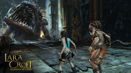 Lara Croft and Guardian of Light'a co-op modu
