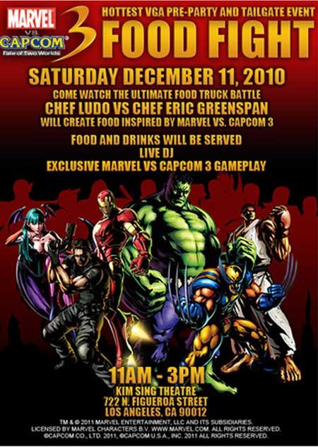 Marvel vs. Capcom Yemek savaşı