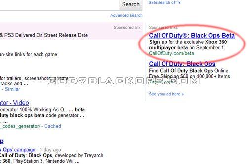 Black Ops betası, X360'a özel 1 Eylül'de mi?