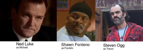 Michael, Trevor ve Franklin'in aktörleri