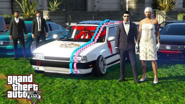 Grand Theft Auto V'te çılgın düğün!