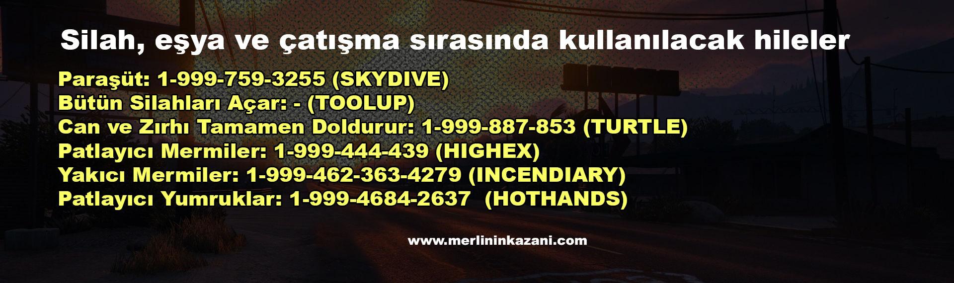 GTA V Hileleri (Telefon Numaraları ve Şifreler)