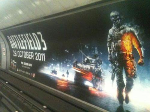 Battlefield 3'ün dev reklamları Londra metrosunda!