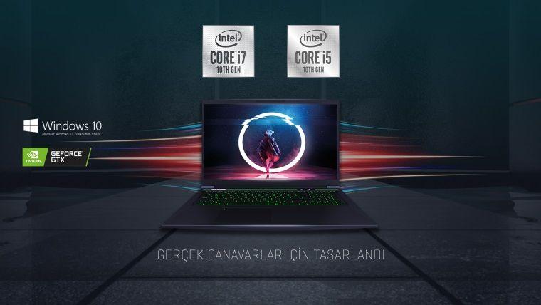 Intel 10. Nesil İşlemcili Monster Notebook'lar dünya ile aynı anda satışa çıkıyor