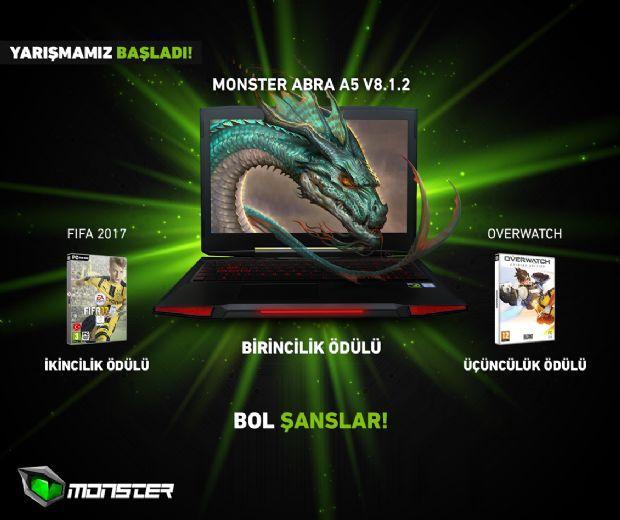 Monster Notebook hediyeli yarışma seni bekliyor