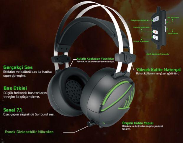 Pusat 7.1 RGB oyuncu kulaklıkları duyuruldu