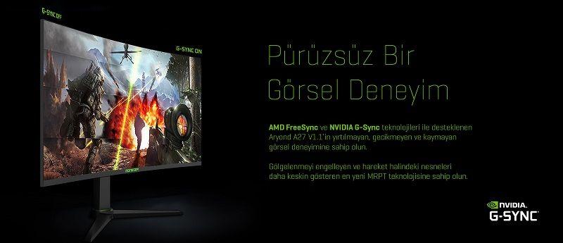 Monster oyuncu monitörü Aryond A27 V1.1 satışa sunuldu