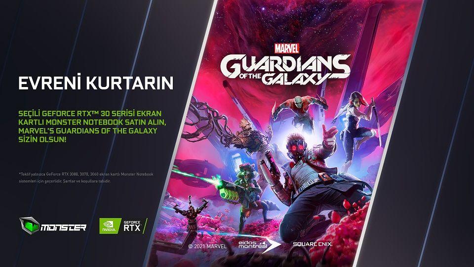 RTX 30 serisi Monster Notebook alanlara Guardians of the Galaxy hediye